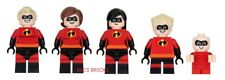 LEGO - The Incredibles - Mini Figures - 5 Incredibles Mini Figure Lot