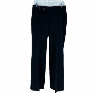 Banana Republic Jackson Fit Women Size 6 Stretch Black Trousers Wool