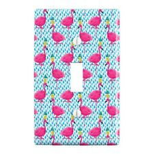 Party Flamingos Pineapples Plastic Wall Decor Toggle Light Switch Plate Cover