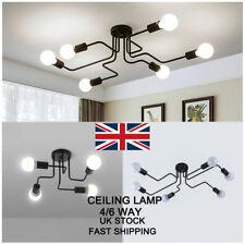 4/6 Way Industrial Style Ceiling Lights Modern Bathroom Retro Metal Pendant Lamp