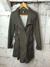 Women's Topshop Wool Blend Riding Coat London Pattern Style UK 12 (1563)