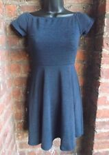 Motel Navy blue A-line skater dress. size XS/6     (ASOS/short/skirt)