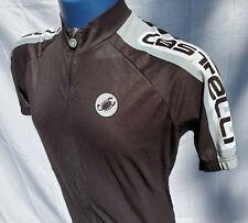 Castelli Cycling Jersey Full Zip Black Scorpion Logo Italy EUC Womens XL