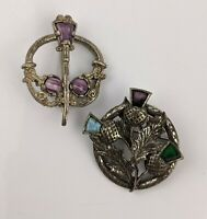Miracle Scotland Celtic Brooch and one Similar - vintage costume jewellery