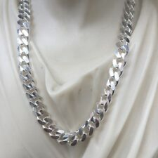 925 Argento Sterling Hip Hop Uomini Cuban Link catena collane 7.5mm 60GR 26 pollici