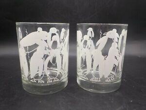 2 Vintage Taylor & NG Penguins 12 Oz Low Ball Rocks Glass Glasses 1980 Japan