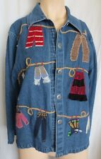Don't Mess With Texas Denim Jacket w Cowboy Western clothes Size M