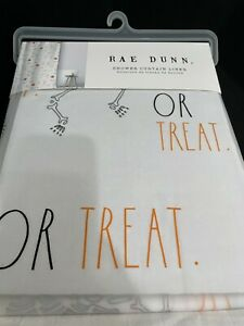 """Rae Dunn TRICK OR TREAT Shower Curtain Liner New 2021 72"""" x 72"""""""