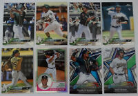 2018 Topps Chrome Oakland Athletics A's Master Team Set of 8 Baseball Cards