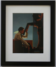 Jack Vettriano - Night Calls II - Framed & Mounted Print Thin Black FREE P+P