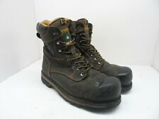 Dakota Men's Quad 8'' Comfort Aluminium Toe Composite Plate Work Boot Brown 12 W