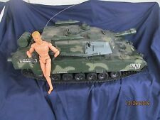 """R/C tank Panzer? for parts or repair no remote 26"""" long"""