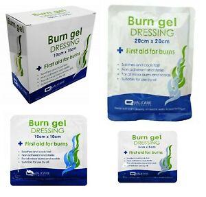 5cm, 10cm- Burn Gel - Sterile, Soothing Relief, Cooling Gel dressing Scalds