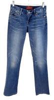 Lucky Brand Leyla Boot Cut Jeans Whiskered Flap Pockets  Blue Womens Sz 0 25 Reg