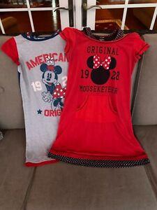 Girls Disney Minnie Mouse Cartoon Sketch Cotton Nightdress Nightie Sizes from 1 to 4 Years