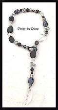 Black /Crystal Precious-Faceted-French Inspired-Toggle-Swarovski-Falais-Necklace