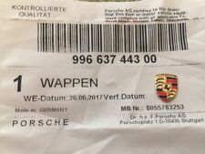 Genuine Porsche Key Fob Replacement Colored Crest Small Emblem Logo 99663744300