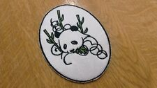 1 x Sew 'n' Iron on Patch Motif Oval Panda Bamboo