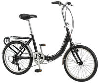 "Schwinn 20"" Unisex  Loop Folding Bike Bicycle - Black"