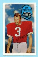 1970 Kelloggs Football # 20 Jan Stenerud -- Box 704