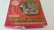 THE WORLD OF WALT DISNEY Vintage Circular Jigsaw 100 large pieces COMPLETE