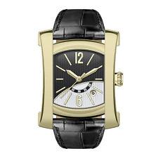 Italian Quartz Men's Analogue Stainless Steel, Glass, Leather Strap Wristwatch