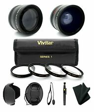 58MM Wide Angle Lens & Telephoto + Filter Kit for Canon Rebel T5i T4i T3i T2i