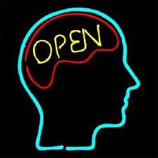 "Open Mind Three Colors Neon Sign Bar Decor Gift 14""x10"" Light Lamp Bedroom"