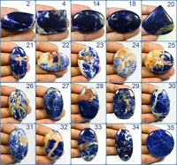 NATURAL DEEP BLUE SODALITE CABOCHON MIX SHAPE LOOSE GEMSTONE JEWELRY USE SD-C