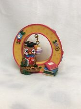Mary Engelbreit Ink 1999 Resin Wise Owl School Ornament Letter O