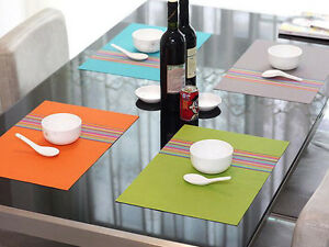 4pcs 45 x 30.5 cm PVC Dinner Table Lunch Placemats Mat Food Plates