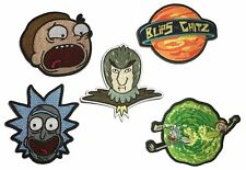 Rick And Morty TV Characters Embroidered Costume Patch Set of (5) Adult Swim