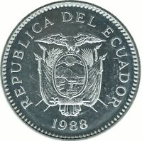 COIN / ECUADOR / 50 CENTAVOS 1988   UNC    #WT18226