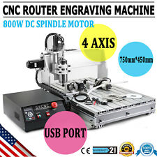 4 Axis Mach3 6040z Cnc Router Engraver Drill Milling Machine Wood Art 15kw Vdf