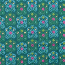 """AMY BUTLER """"DREAM WEAVER"""" GYPSY EMBROIDERY Teal LAWN by yard"""