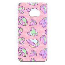 Para Samsung Galaxy S6 Silicona Funda Bling Diamantes patrones Verde Rosa-S659