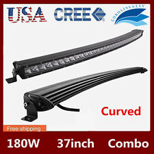 """37"""" 180W Cree Curved LED Light Bar Combo Single Row Jeep Offroad SUV Truck /150W"""