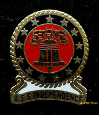 USS INDEPENDENCE CVA62 LOGO HAT PIN US NAVY MARINES CV LIBERTY BELL CARRIER WING