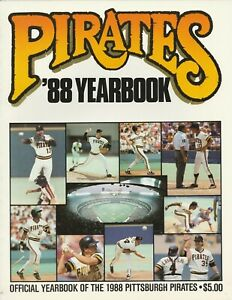 1988 Pittsburgh Pirates Yearbook Near Mint Condition