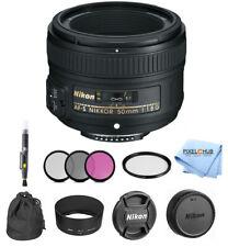 Nikon Af-s Nikkor 50mm Lente f/1.8G paquete de arranque #2199