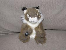 "KAMIK Louie the Lynx Plush Stuffed Toy Animal 8"" long NWT NEW"