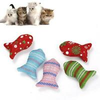 Pet cat Christmas cloth fish interactive toy Catnip Toys
