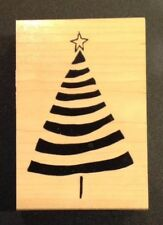 Great Impressions Abstract Christmas Tree Rubber Stamp J82