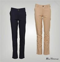Boys Ben Sherman Cotton Slim Fit Chinos Sizes Age from 7 to 15 Yrs