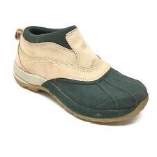 Women's LL Bean Duck Boots Shoes Sz 6M Brown Green Leather Rubber Waterproof F12