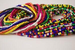 "African Waist Beads PLUS SIZE - Figure Shaping  Bikini / Belly Chain Size 44-70"""