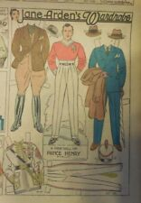 Jane Arden Sunday with Large Uncut Paper Doll from 10/28/1934 Full Size Page!