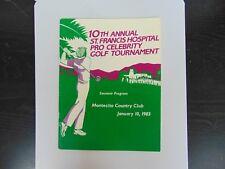 """1983 Pro Celebrity Golf Tournament"" Multi Signed Program Todd Mueller COA"