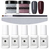 9Pcs/Set NICOLE DIARY Dipping Powder Gray Dip System Liquid Nail Art Starter Kit