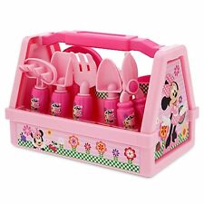 Disney Minnie Mouse Gardening Set Pink 9 Pc outdoor Pretend play Sand toy gift